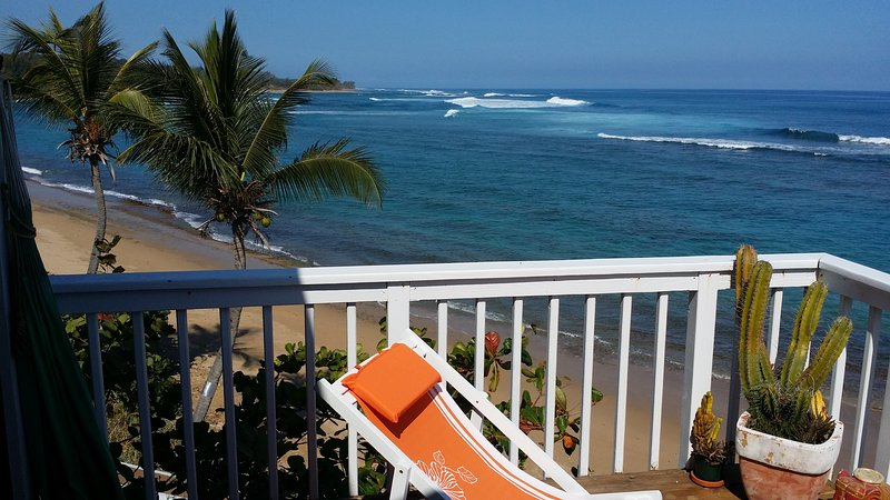 Private Beachfront Deck - Shacks / Jobos Beach, Two Beachfront Villas in Is - Isabela - rentals