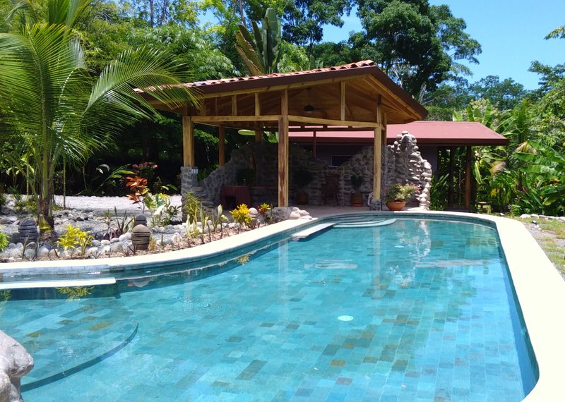 Go for a swim in our 50ft pool - Casitas Del Rio-Relaxing Riverfront Retreat - Uvita - rentals