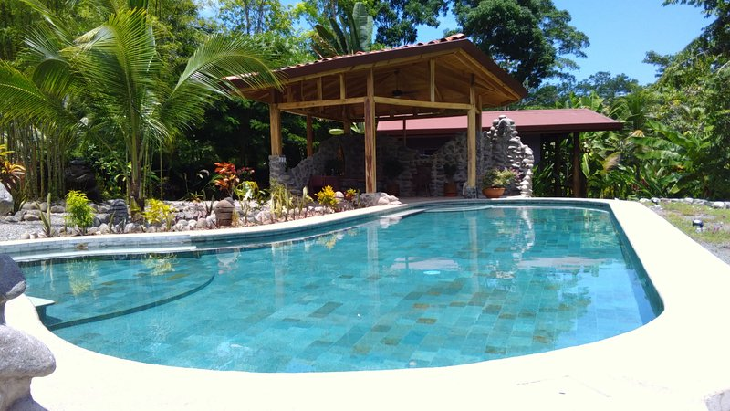 Go for a swim in our 50ft pool - Casitas Del Rio - Riverfront Retreat - Uvita - rentals