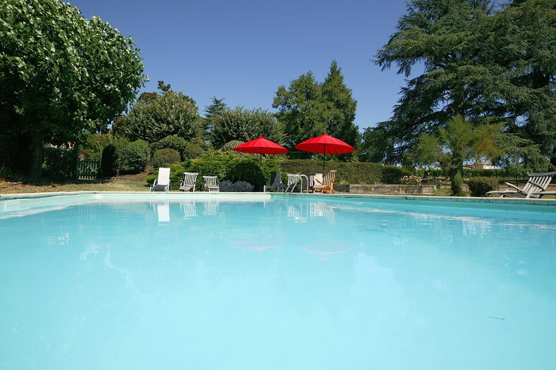 Shared secured swimming pool : 12 x 6M - Holiday houses on a Bordeaux family winery - Saint-Caprais-De-Bordeaux - rentals