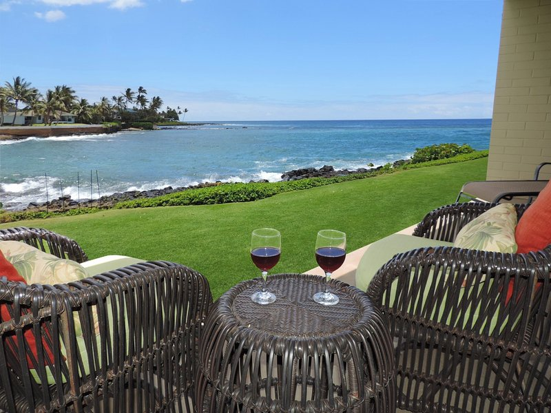 What a view - Kuhio Shores, Poipu-Oceanfront Beauty - Poipu - rentals