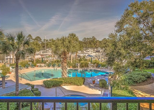View - 7525 Yacht Club-2nd Floor Fully Renovated Harbourview villa. Beautiful Views - Hilton Head - rentals