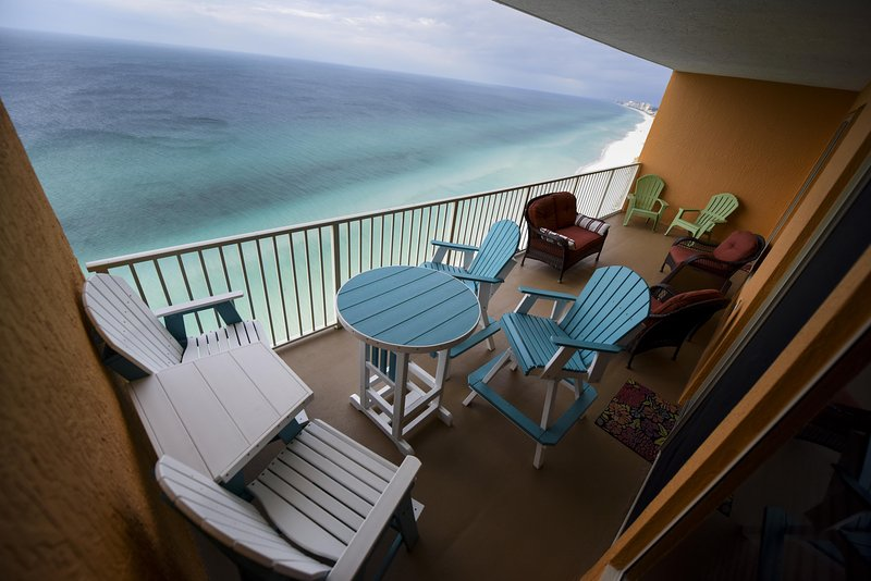 Private Balcony We just added 2 additional Pub chairs w/table. - 2210 Treasure Island - Panama City - rentals