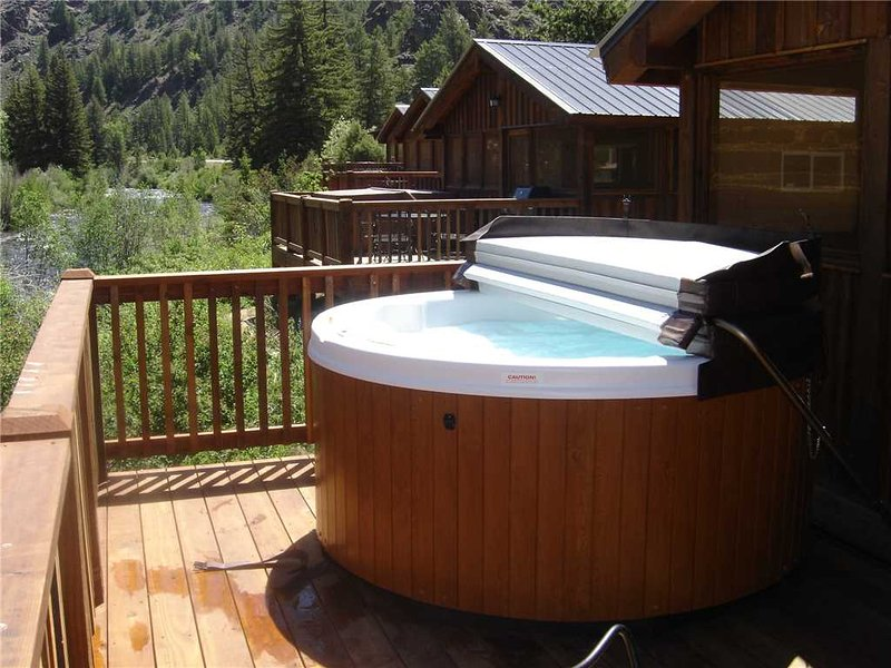 Premium 2 BR Cabin on Taylor River With Private Hot Tub at Three Rivers Resort in Almont (#20) - Image 1 - Almont - rentals