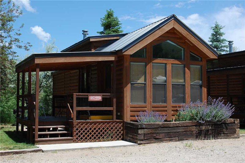 "Cozy ""Modular"" Style 1 BR with Sleeping Loft Cabin at Three Rivers Resort in Almont (#35) - Image 1 - Almont - rentals"