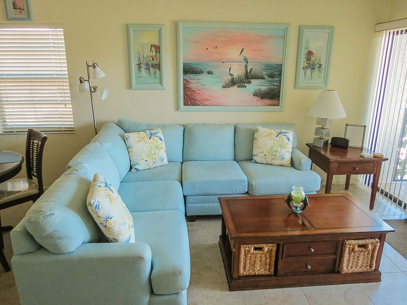 Living Area - AC F-301 - Anglers Cove - Marco Island - rentals