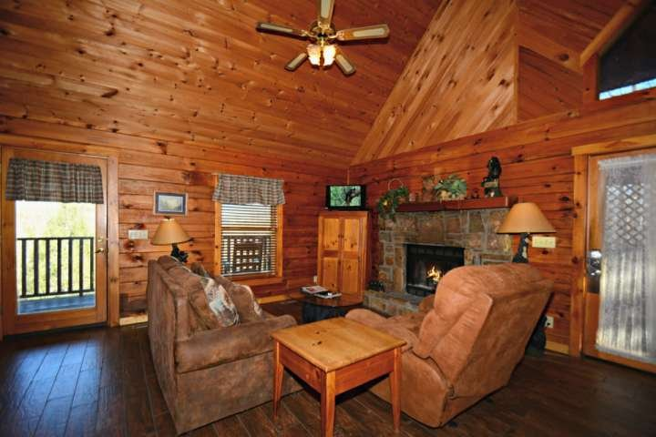 Cozy enough for two, big enough for four ~ Relax by the fire after a long day of shopping! - Cozy Cottage ~ Romantic Getaway! Private Jacuzzi, Cozy Fireplace! - Pigeon Forge - rentals