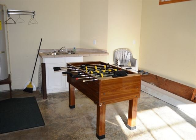 Single car garage with Foos Ball table - SANDPIPER~This gorgeous home will become your family's favorite vacation spot - Manzanita - rentals