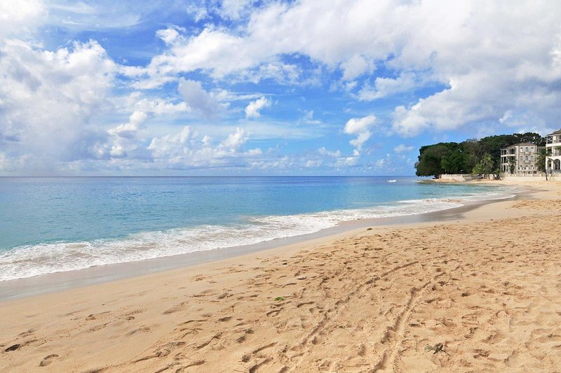 Coral Cove 1 - Beach in front of condo - Coral Cove 1 - Modern Beachfront Apartment - Saint James - rentals