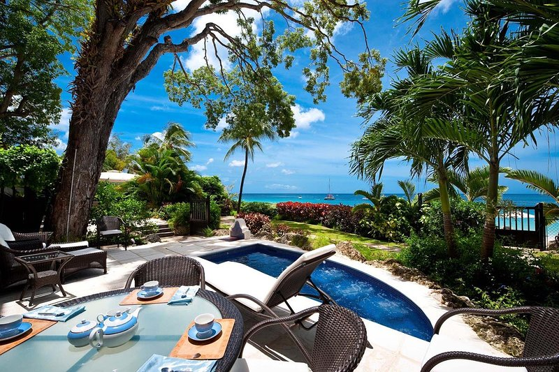 Coral Cove 2 - The Mahogany Tree: Trendy Outdoor Living - Coral Cove 2 - The Mahogany Tree: Luxury Beachfron - Saint James - rentals