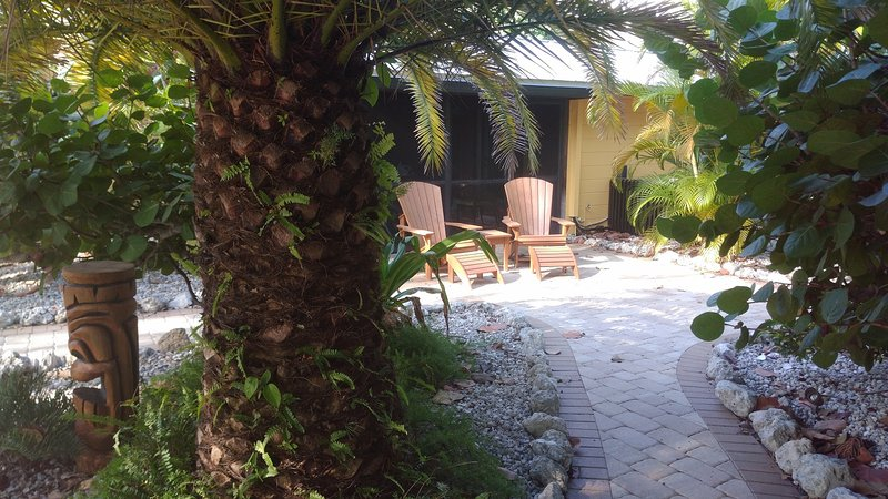Outdoor gardens on large double lot 150 ft to the beach! - A Must See! Manasota Key Beach House! - Manasota Key - rentals