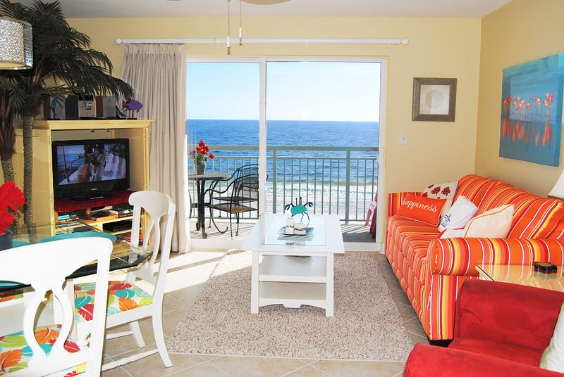 Living Room Pelican Isle 414 Fort Walton Beach Okaloosa Island Vacation Rentals - Pelican Isle Resort, Unit 414 - Fort Walton Beach - rentals