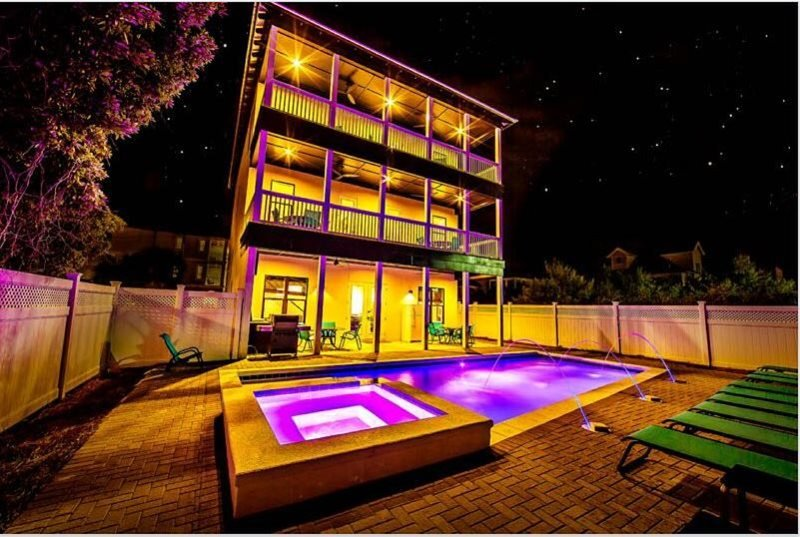 Rear of Home Featuring Private Pool - 20% OFF MARCH: Game/Media Room, Priv Pool/Hot Tub! - Seagrove Beach - rentals
