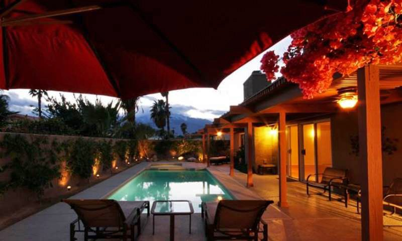 Pool View at Night - Claddagh House - Cathedral City - rentals