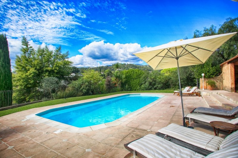 French Riviera Villa with Private Pool Near Historic Village  - Villa Rose - Image 1 - Saint-Paul - rentals