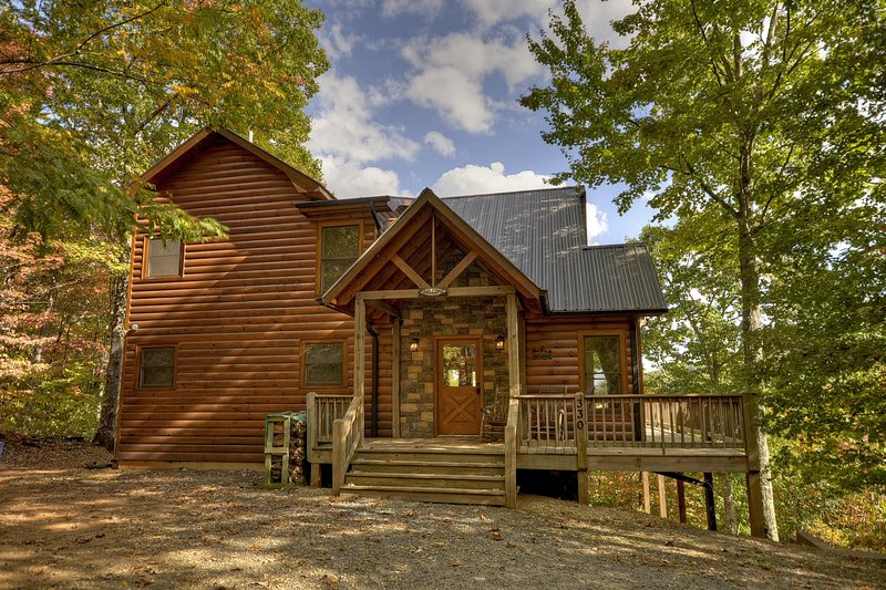 PRIVATE Dreamview Cabin, 3/3, Hot Tub, Pool Table! - Image 1 - Cherry Log - rentals