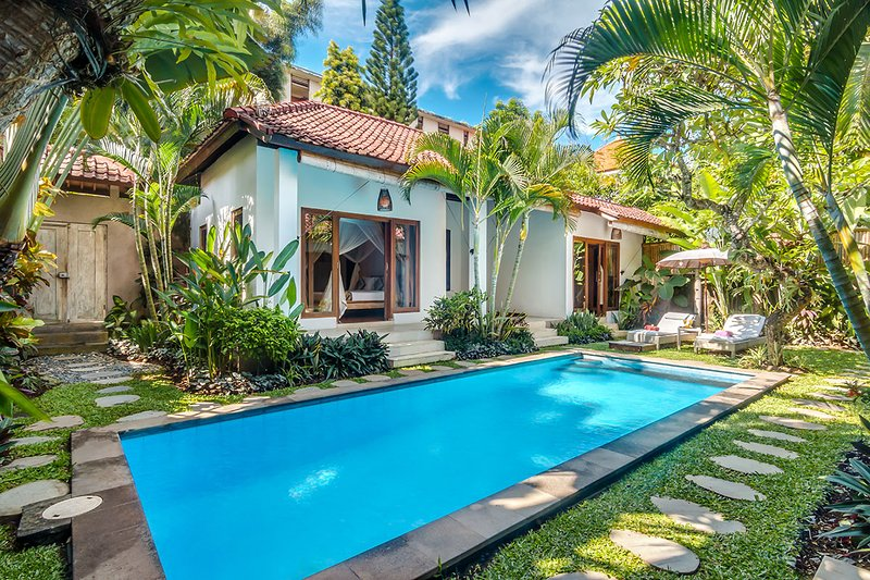 Our private pool and garden area - 3 Bedroom Villa, Central Seminyak Close to Beach - Legian - rentals