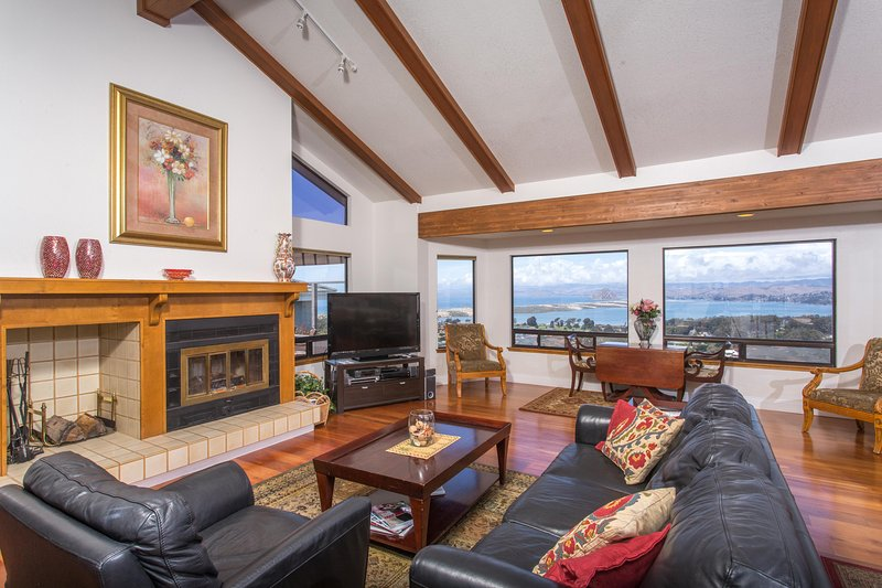 Great room with inspiring views & wood burning fireplace - Fabulous Ocean View For a Really Great Vacation - Los Osos - rentals