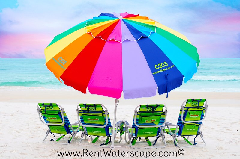 Beach equipment provided in unit. - Waterscape C203, Ground level, Pool View, Fun Unit - Fort Walton Beach - rentals