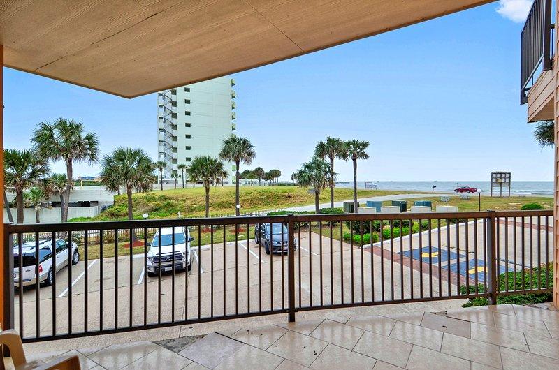 Balcony - Ahoy Mateys - Galveston - rentals