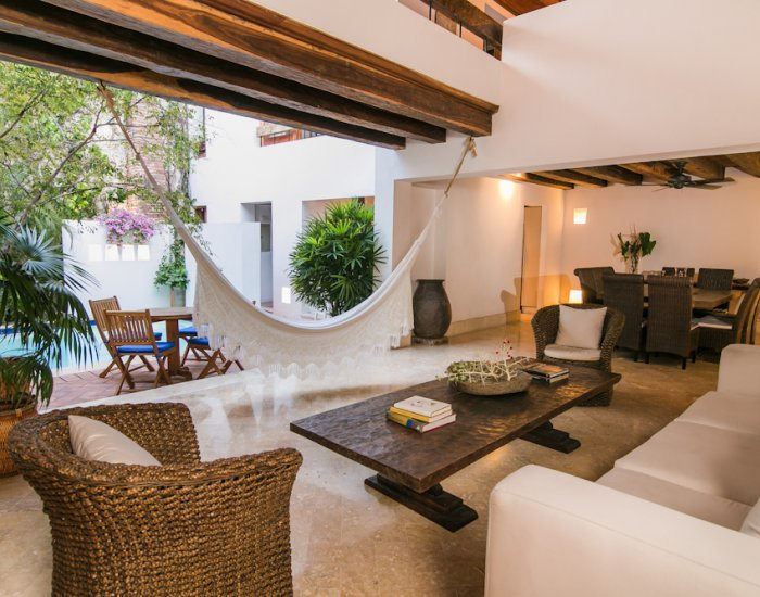 Open-Air, 3 Bedroom Home with Terrace and Pool in Old Town - Image 1 - Cartagena - rentals