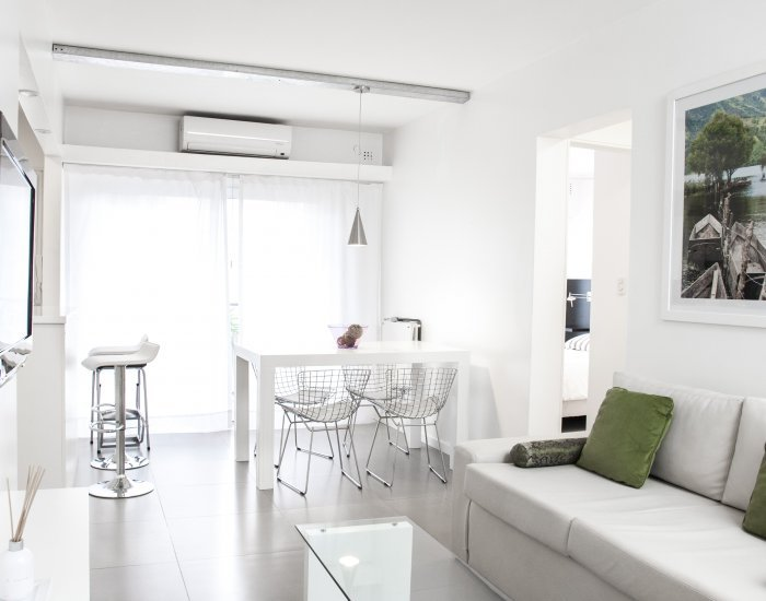 Buenos Aires - Green Line - Living Room - 1 Bedroom Bright and Modern Apartment in Palermo Soho - Buenos Aires - rentals