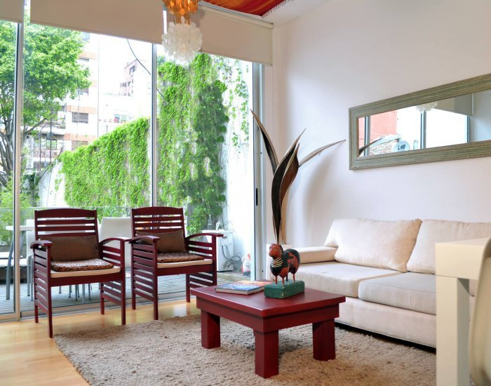 Buenos Aires - Baez Loft - Living Room - Charming Loft Apartment Located in Las Cañitas - Buenos Aires - rentals