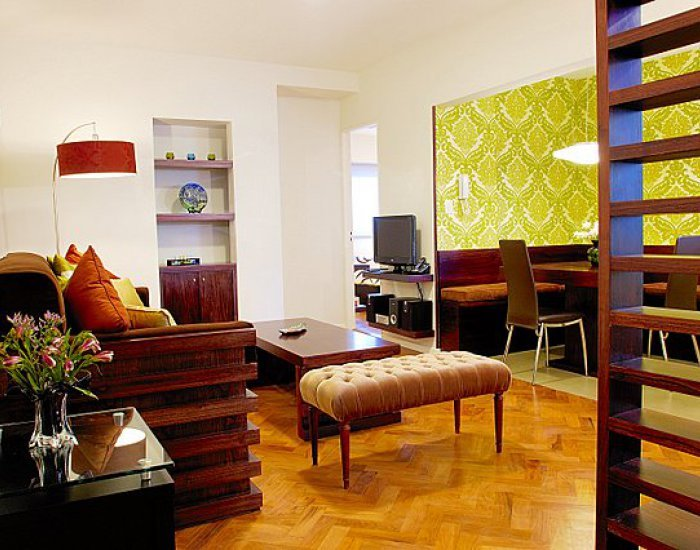 Buenos Aires - New Vitraux - Living Room - Contemporary 1 Bedroom Apartment in Plaza San Martín - Buenos Aires - rentals