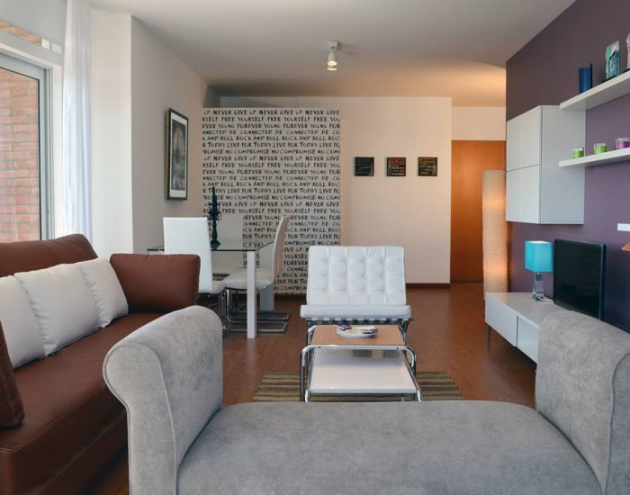 Buenos Aires - Nuñez Gardens - Living Room - Modern 2 Bedroom Apartment with River Views in Belgrano - Buenos Aires - rentals