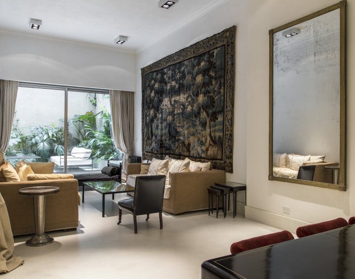 Buenos Aires- Royal Callao - Living Room - Elegantly Stated 2 Bedroom Apartment in Recoleta - Buenos Aires - rentals