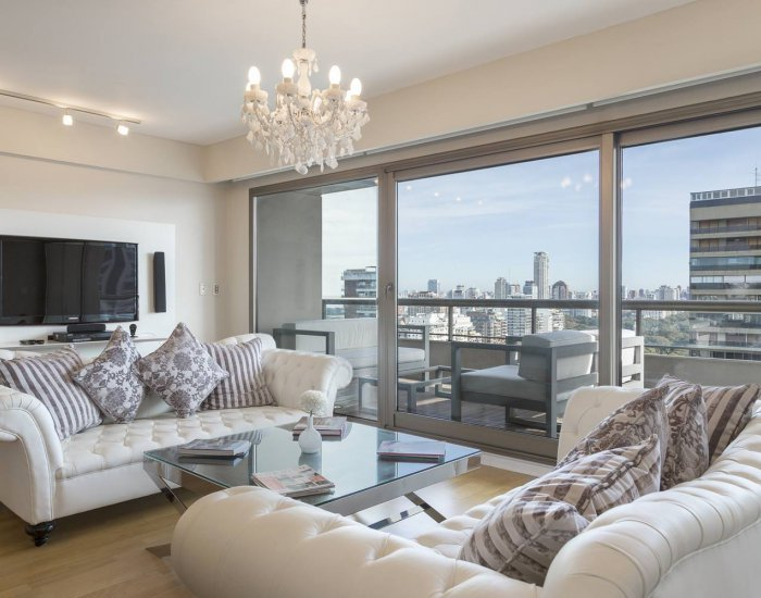 Buenos Aires - Salguero Tower - Living Room - Superb 3 Bedroom Apartment in Palermo Nuevo - Buenos Aires - rentals