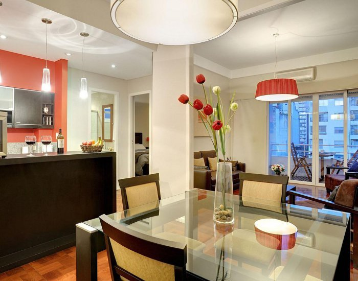 Buenos Aires - Scarlet Place - Living Room - Classic 1 Bedroom Apartment with Office in Recoleta - Buenos Aires - rentals