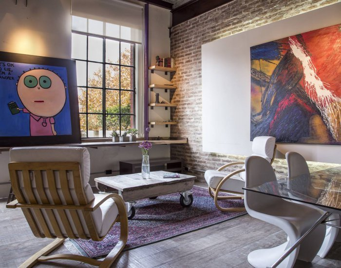 Buenos Aires - Silos Loft - Living Room - Artful Loft Apartment in Palermo Hollywood - Buenos Aires - rentals
