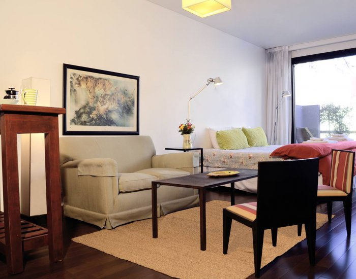 Buenos Aires - Terrace Studio - Living Room - Charming Studio with Stunning Pool in Recoleta - Buenos Aires - rentals