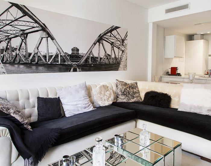 Buenos Aires - Violet - Living Room - Eclectic 1 Bedroom Apartment in Recoleta - Buenos Aires - rentals