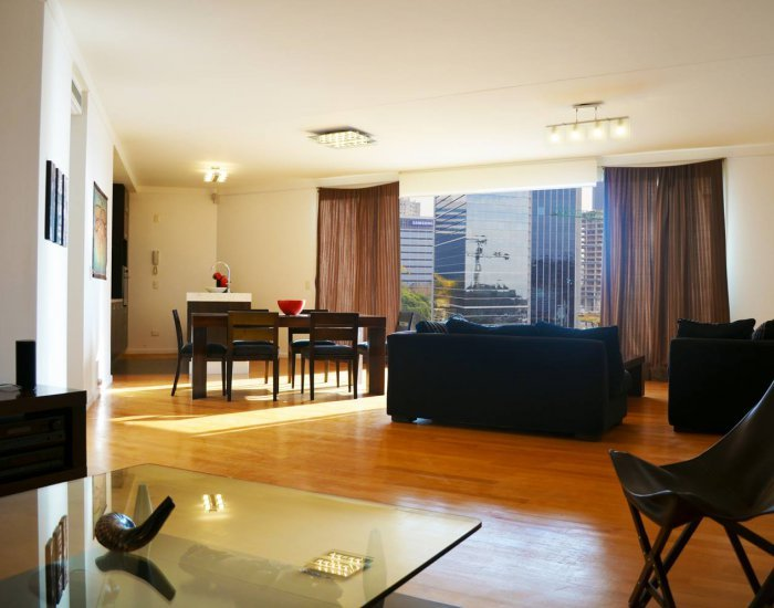 Buenos Aires - Yin Yang - Living Room - Spacious & Modern 2 Bedroom Apartment in Puerto Madero - Buenos Aires - rentals