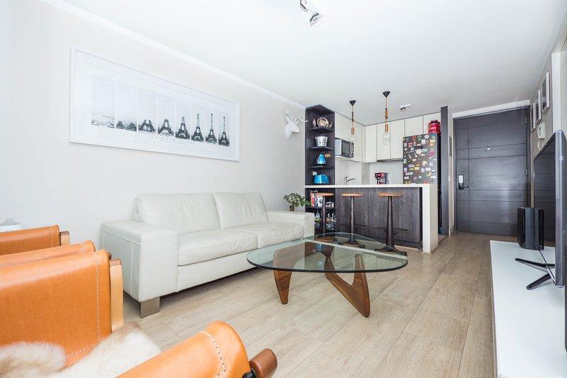 Santiago - Kennedy Design - Livingroom - Trendy 1 Bedroom Apartment in Las Condes - Santiago - rentals