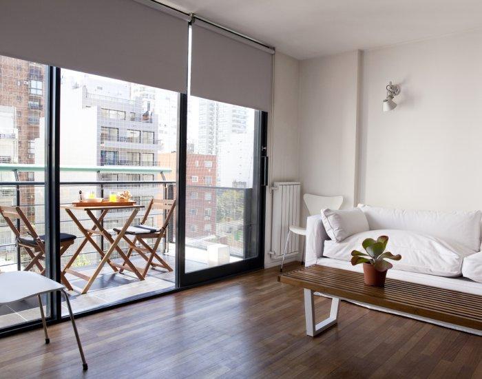 Buenos Aires - Brightside - Living Room - Minimal 2 Bedroom Duplex in Las Cañitas - Buenos Aires - rentals