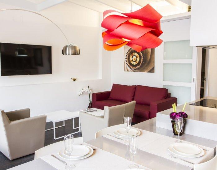 Barcelona - Design Valencia - Living Room - Bright 3 Bedroom Apartment in the Heart of Esquerra de l'Eixample - Barcelona - rentals