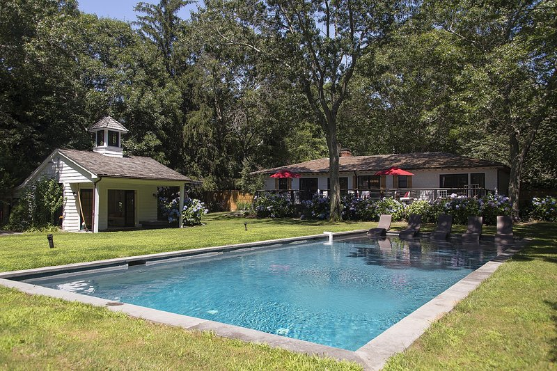 Beautiful yard and pool house - Designed as a Luxury Boutique Hotel - Sag Harbor - rentals
