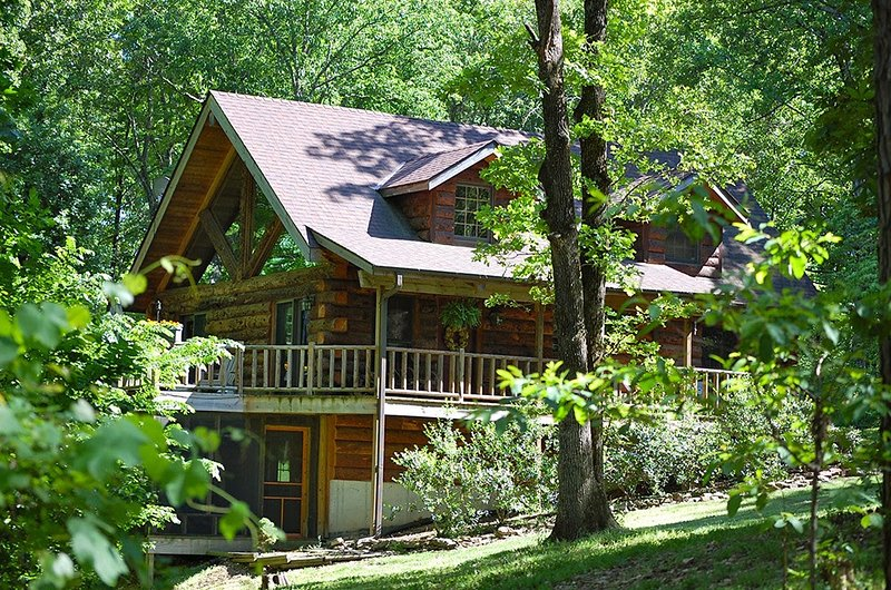 Secluded LogCabin in 40 wood acres , Pool Table, Foosball table,Pingpong, HotTub - Image 1 - Branson - rentals