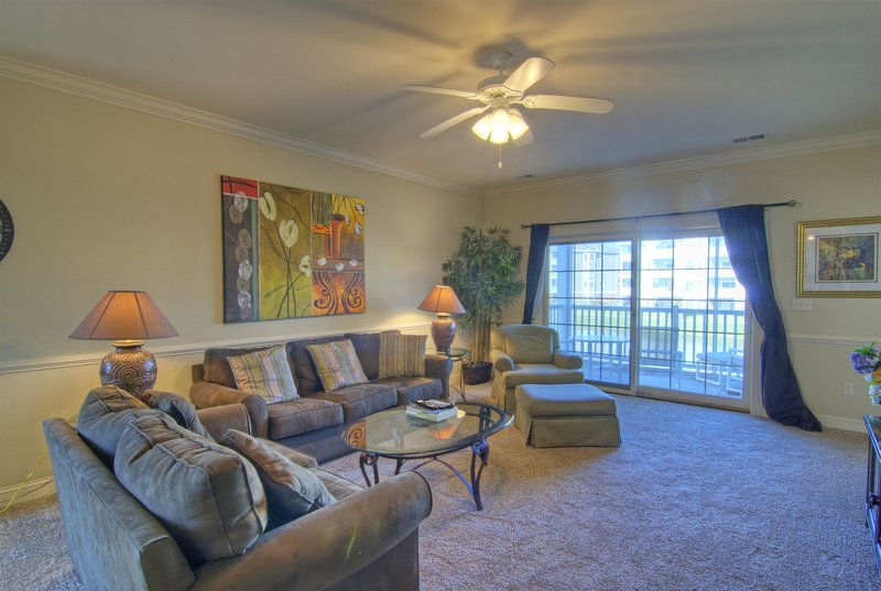 Living Room - Outstanding Magnolia Pointe Condo with a Terrace, in Myrtle Beach - Myrtle Beach - rentals