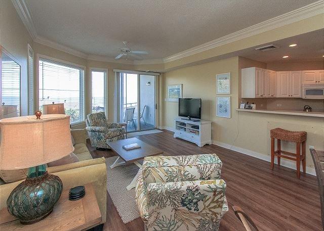 Living Area - 2407 SeaCrest-  Outstanding Ocean Views - Hilton Head - rentals