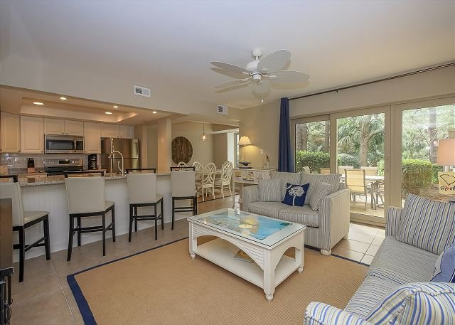 Main Area - 1654 Bluff Villa-Beautiful first floor villa-Quick walk to beach & marina - Hilton Head - rentals