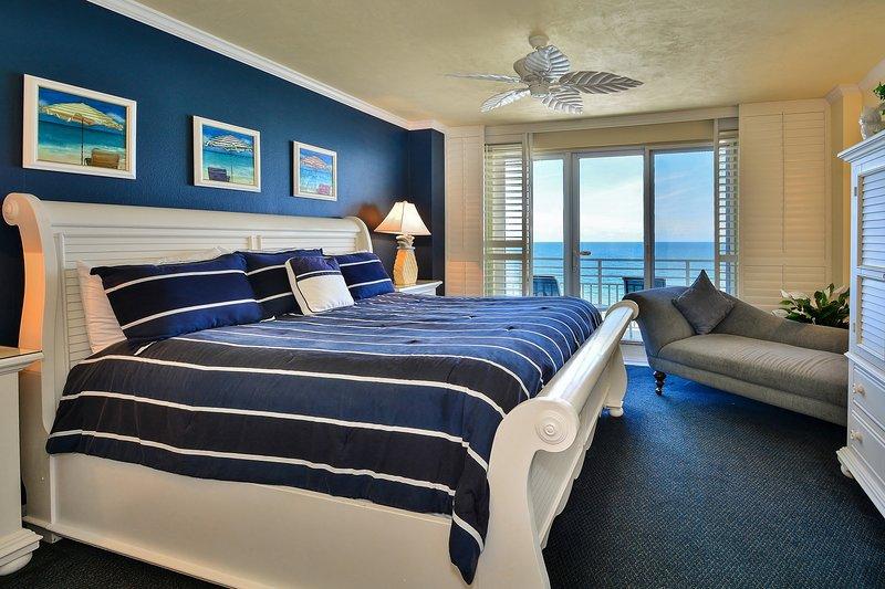 Master Bedroom with Private Balcony - Wyndham Ocean Walk Resort Local OWNER Manager - Daytona Beach - rentals
