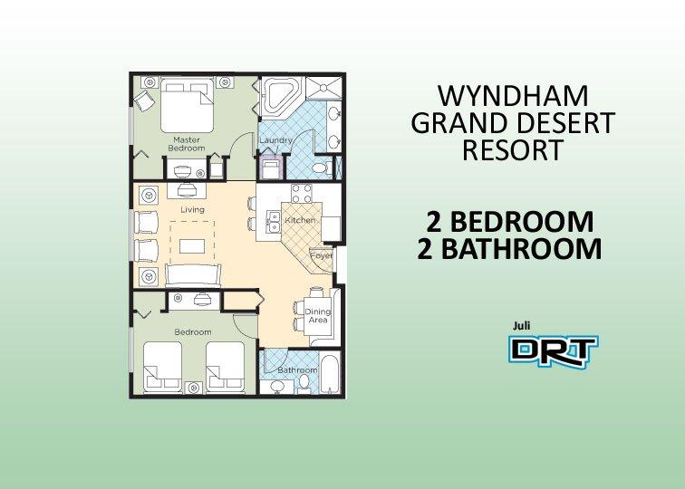 2Br Condo #1 Wyndham Grand Desert  Near Strip - Image 1 - Las Vegas - rentals