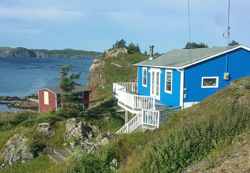Beautiful ocean views from the wrap around deck. - Little Wild Cove Cottage - Twillingate - rentals