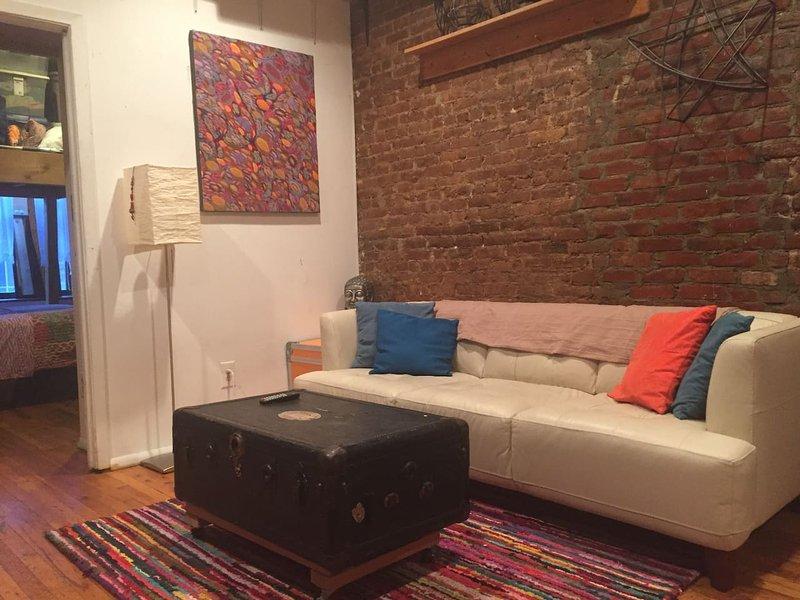 Living Room: Comfortable, Clean, Convenient - Columbia U - UWS - Safe, Clean, Convenient Apartment - New York City - rentals