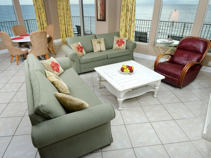 Enjoy many Spectacular Views from the Wrap Around Balcony in our 3 Bedroom Corner unit on the 9th Floor of Treasure Island! Spring Breakers Welcome! - Image 1 - Thomas Drive - rentals