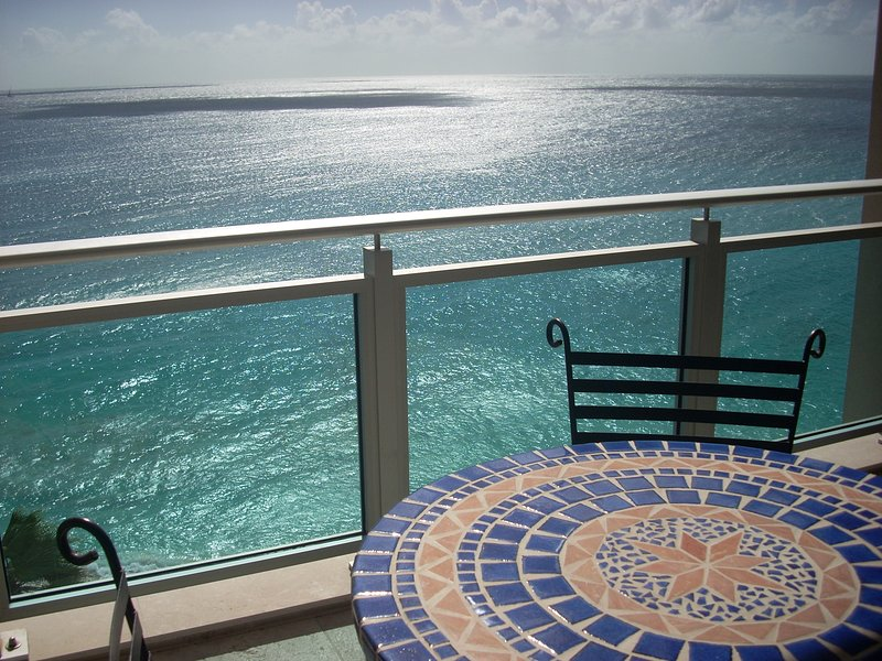 View of Caribbean Sea from Main Balcony - The Cliff**Mar 25 - April 8 Special - $200 Discount Weekly** - Cupecoy Bay - rentals